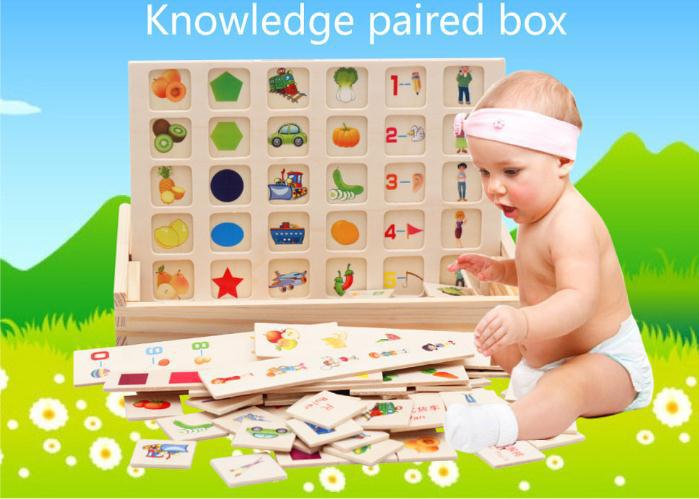 Free delivery Infants early education AIDS cognition matching box 125PCS Building blocks Fruit animal traffic 3