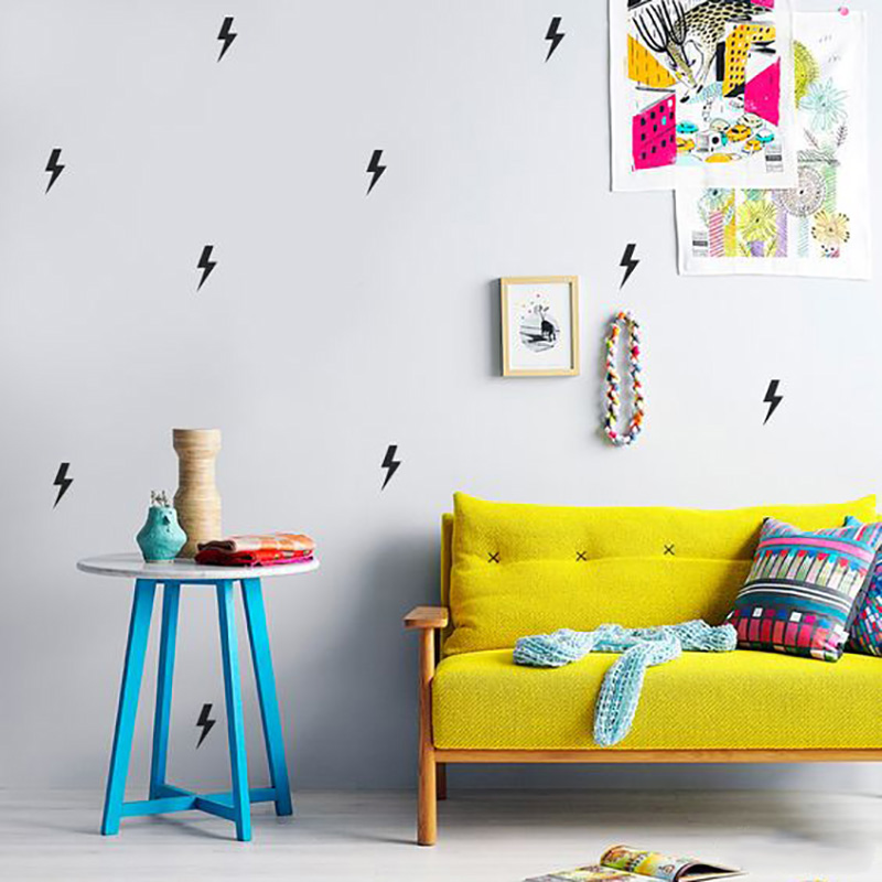 Superhero Lightning Wall Sticker For Kids Room Baby Boy Room Wall Decor Kids Room Home Decor Wallpaper Vinyl Kids Wall Sticker