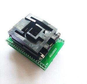 Image 4 - TQFP44 a DIP44 LQFP44 a DIP44 adaptador de enchufe programador QFP44 IC CHIP quema asiento (pin1 a Pin1) Paso de 0,8mm