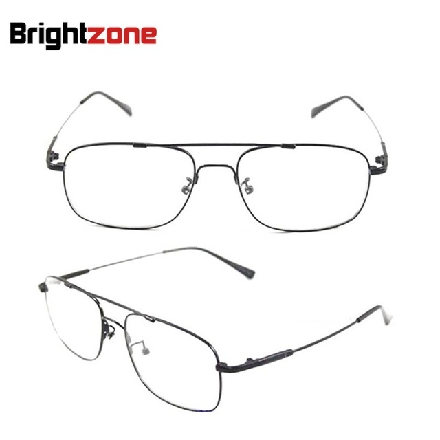 Brightzone Brand Full Rim Pilot-shape Titanium Alloy Flexible Arm Bridge Rx Prescription Optical Glasses Oculos Eyeglass Frames