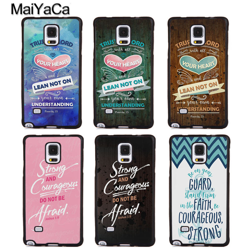 MaiYaCa Bible Verses Quotes Style Soft Rubber Phone Case For Samsung Galaxy S6 S7 edge plus S8 S9 plus Note 5 8 Back Coque Cover
