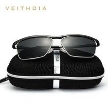 VEITHDIA Brand Aluminum Magnesium Men's Sun glasses Polarized Mirror Lens Eyewear Accessories Sunglasses For Men Oculos 6381