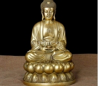16''brass sculpture Home Fengshui Decor biddhism tathagata Sakyamuni buddha