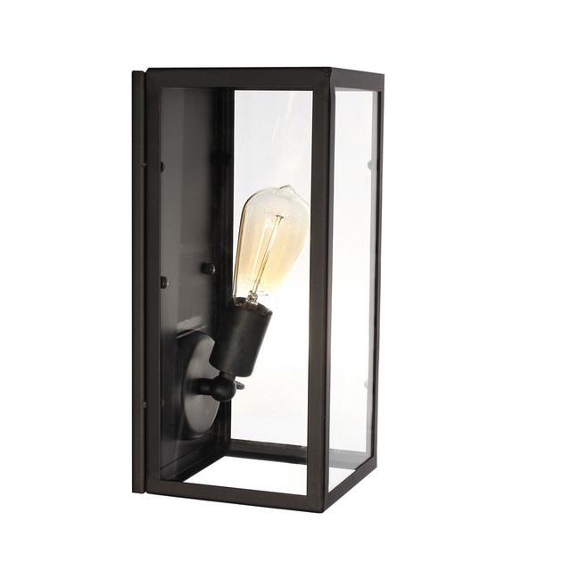 Vintage Loft Filament Étroite Boîte Mur Lampe Industrielle Verre ...