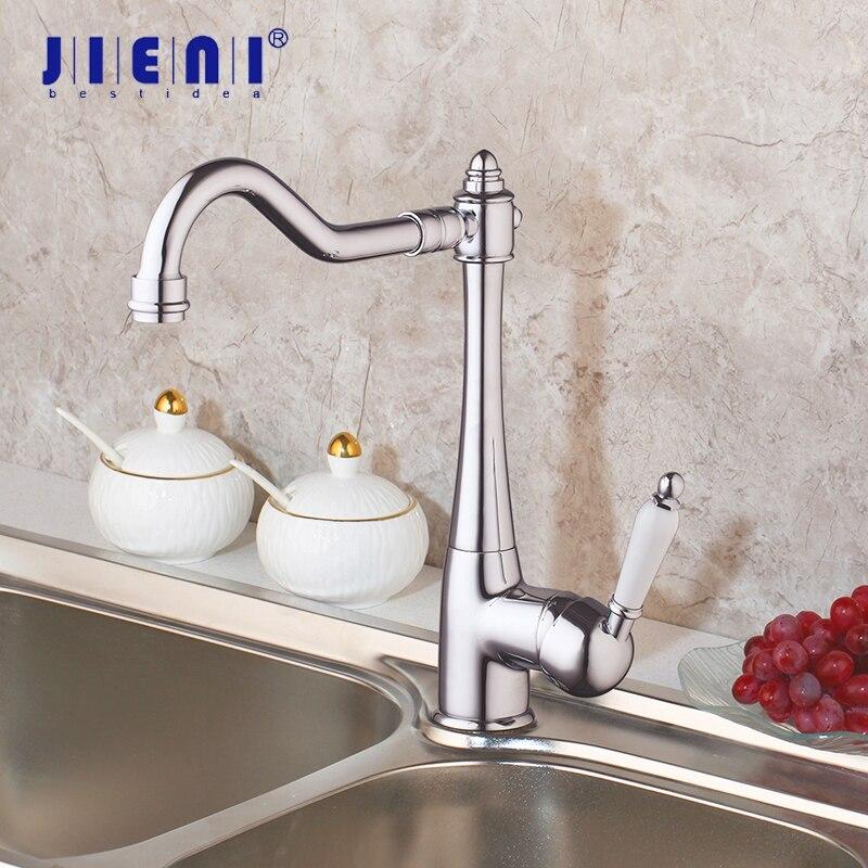 JIENI Swivel Kitchen Basin Sink Mixer Tap Faucet Chrome Polished Faucet Wash Basin Sink Mixer Extend
