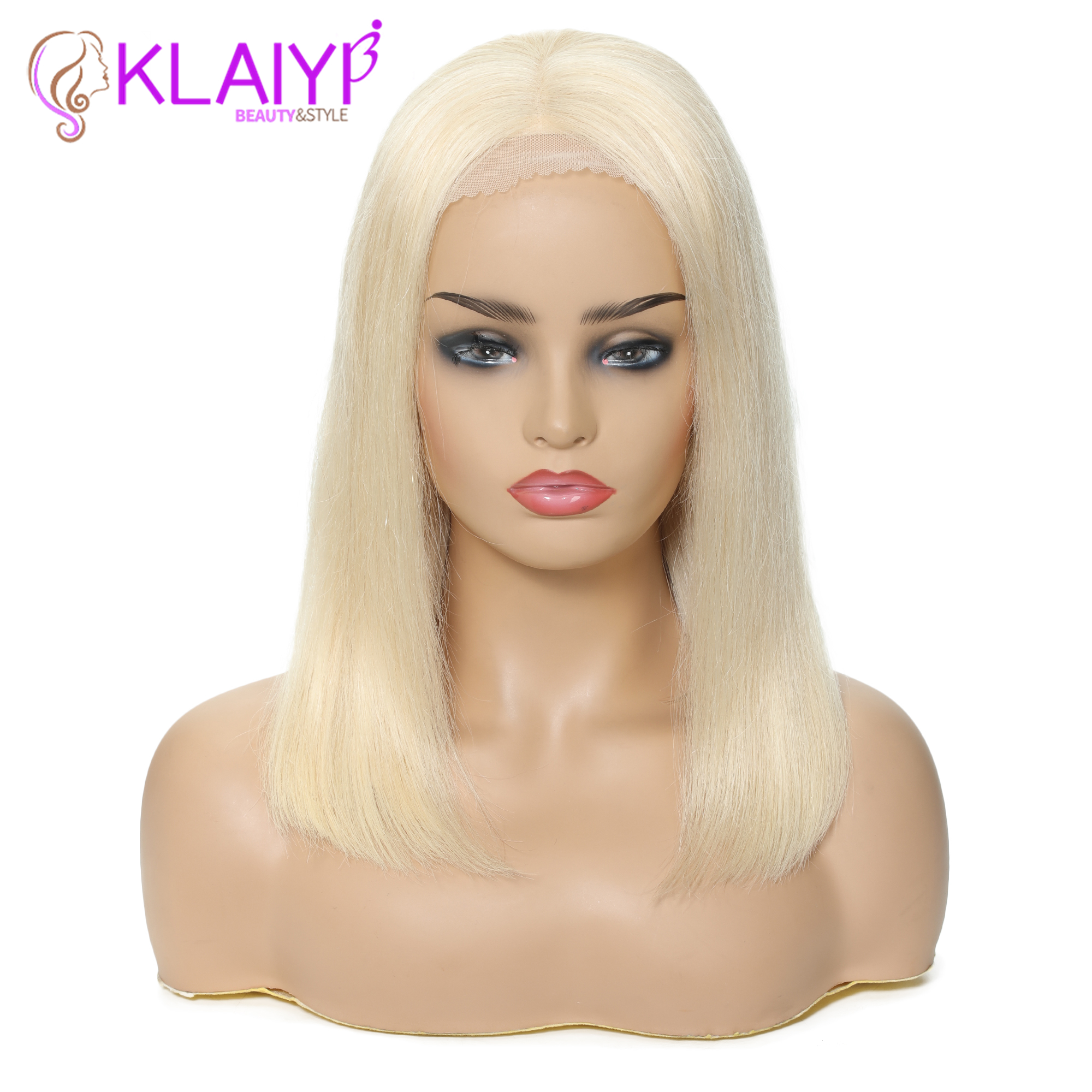 Klaiyi Hair Straight Bob Human Hair Wigs 8 14 inch Pre Plucked Brazilian Remy Hair 13*4/13*6 inch Lace Front Wig 150% Density-in Human Hair Lace Wigs from Hair Extensions & Wigs    2