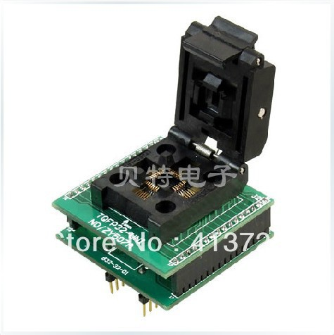 SmartPRO X5/X8 TQFP32 adapter block ZY507A block transfer test, burn original plcc44 to dip40 block adapter block cnv plcc mpu51 test convert burn