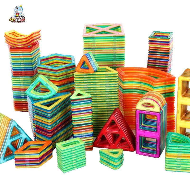 48/68/98/128pcs Magnetic Blocks Big Size Designer Construction Set Model & Building Toy Plastic Magnetic Blocks Educational Toys