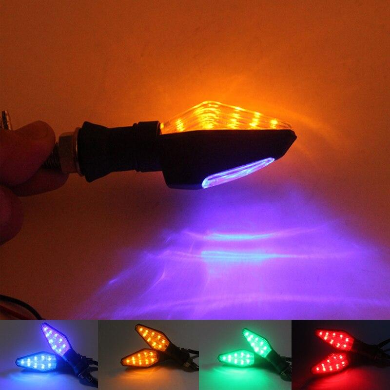 Motorcycle <font><b>LED</b></font> Turn Signal Indicator Blinker Amber Lights Lamp For Honda F2 <font><b>F3</b></font> F4 F4I Yamaha R1 R6 FZ1 FZ6 FZ8 Suzuki Kawasaki