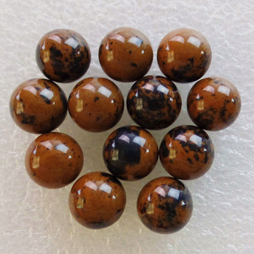 (12 pieces/lot) Wholesale Natural Mahogany Obsidian Round CAB CABOCHON 10mm Free Shipping Fashion Jewelry DJ426