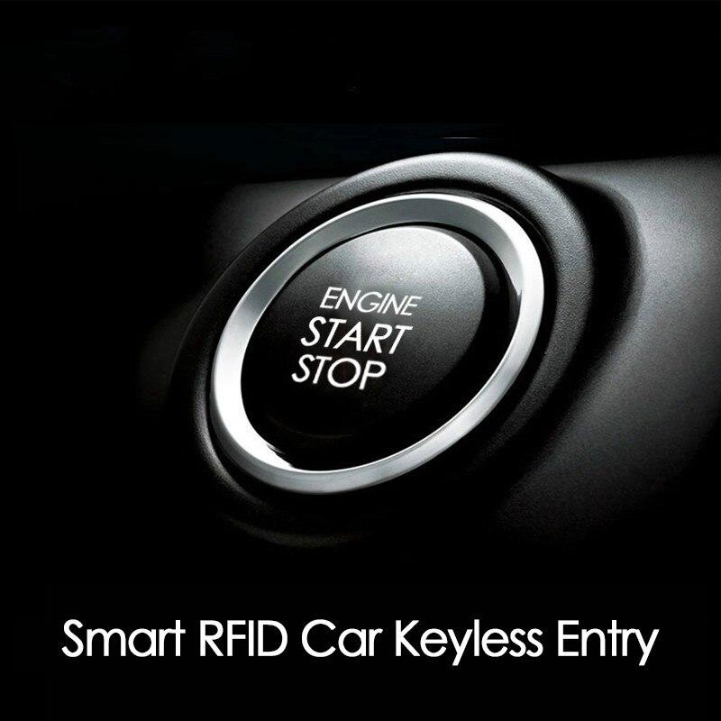 CHSKY voiture moteur bouton poussoir de démarrage RFID moteur serrure allumage sans clé système d'entrée aller bouton poussoir moteur démarrage arrêt immobilisateur