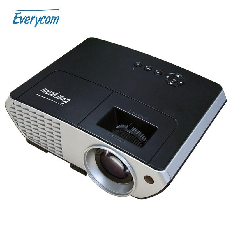 Prix pour D'origine Everycom X8 Vidéo Projecteur Home Cinéma LCD Proyector 2500 lumens Full HD avec HDMI VGA USB LCD Projecteur MINI Beamer
