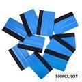 EHDIS 500 шт. синий войлочный край с отверстием скребок для скребка виниловая пленка для автомобиля тонировка окна инструменты наклейки аксесс...