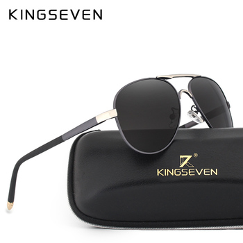 KINGSEVEN Polarized Sunglasses Men Brand HD Polaroid Lens Reflective Coating Driving Sunglasses Vintage Male Eyewear N7503