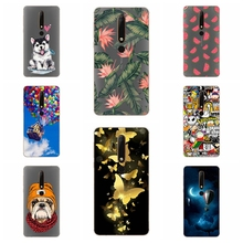ФОТО silicone cover for nokia 6 2018 case 5.5' printing cool animal tpu case for nokia 6.1 cover nokia6 2018 phone cases fundas coque