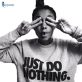 """""""Just Do Nothing"""" Sudaderas Mujer Fashion Women Casual Long Sleeve Hoodie Jumper Pullover Sweatshirt Tops Shirt"""
