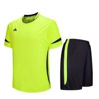 2017 New Men Football Soccer Jerseys Clothes Futbol Training Suit Breathable Shorts Jersey Set Shirts Pants