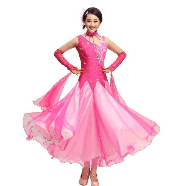 355e5958 US $80.25 45% OFF|Kobiety Standardowe Sukienki Dziewczyny Ballroom  Nowoczesne Waltz Tango Taniec Kostium Dorosłych Tańca Towarzyskiego Waltz  Konkurs ...
