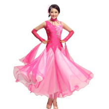 Women Standard Ballroom Dresses Girls Modern Dancing Costume Adult Waltz Ballroom Competition Dance Dress Waltz Tango Costume(China)
