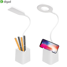 New 28 LED Eye Protect Pen holder Light Table Lamp Stepless Dimmable Bendable USB Powered Touch Sensor Control reading desk lamp