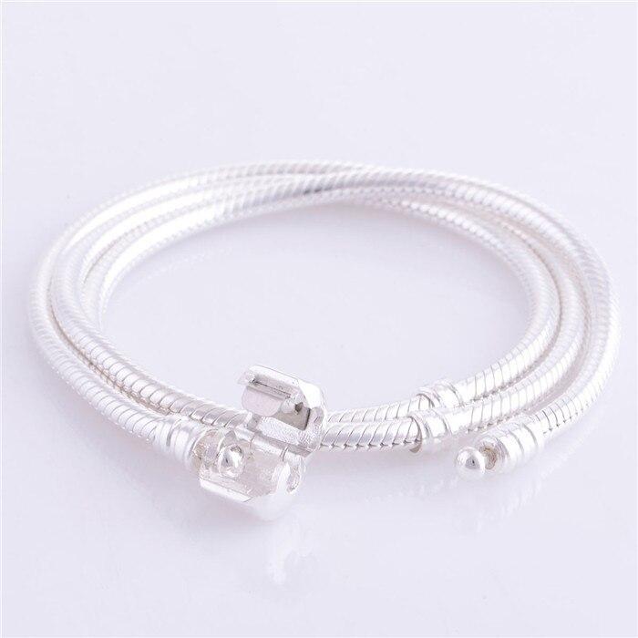 CKK collier 100% 925 en argent Sterling Long collier chaîne Europe mode collier femmes hommes bricolage bijoux à breloques en gros