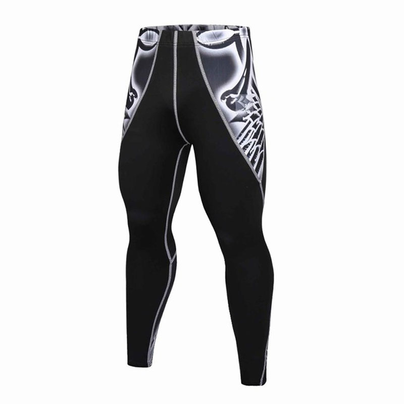 Skinny Sweatpants For Men Compression Pants Men Fashion Leggings Men Jogger Men 3D Fitness Pants Bodybuilding ElasticTrousers