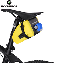 ROCKBROS Bicycle Saddle Bag Rainproof Foldable Reflective Bike Rear Top Tube MTB Cycling Seat Tail Bag For Bike Bicycl Accessory