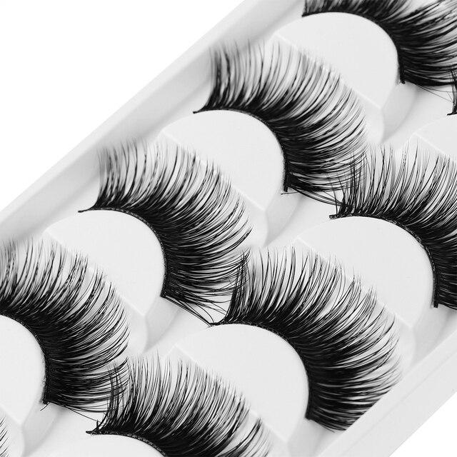 323094f3e1c 5 Pairs/Set Luxurious 3D False Eyelashes Extra Natural Long Thick Cross Eye  Lashes Makeup free shipping Eye Makeup Tools