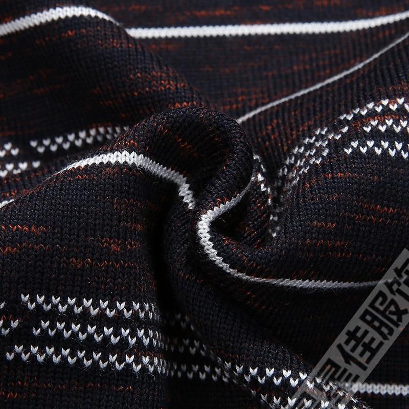 Плюс 8XL 6XL 5XL новый осенний модный мужской пуловер Свитера с длинным рукавом v образным вырезом полосатый вязаный кашемировый Рождественский свитер для мужчин - 6