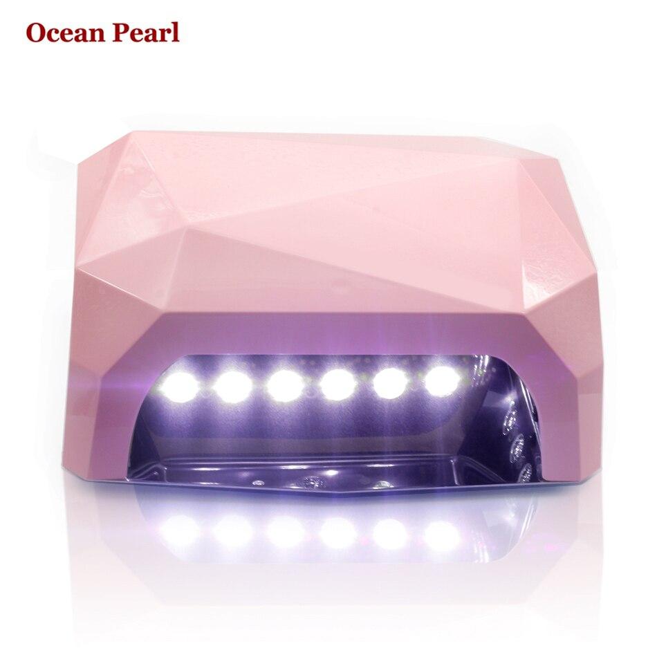 OCEAN PEARL SUN6 AUTO Sensor LED UV Nail Lamp Nail Dryer Diamond Shaped 36W Light 365nm