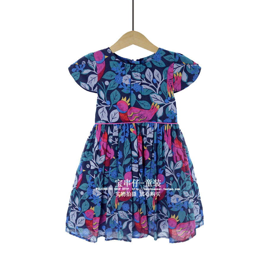 Girls Dresses for Party and Wedding Ball Gowns for Children Short Print Casual Dress Girls Dresses Summer 2017 Children Clothe