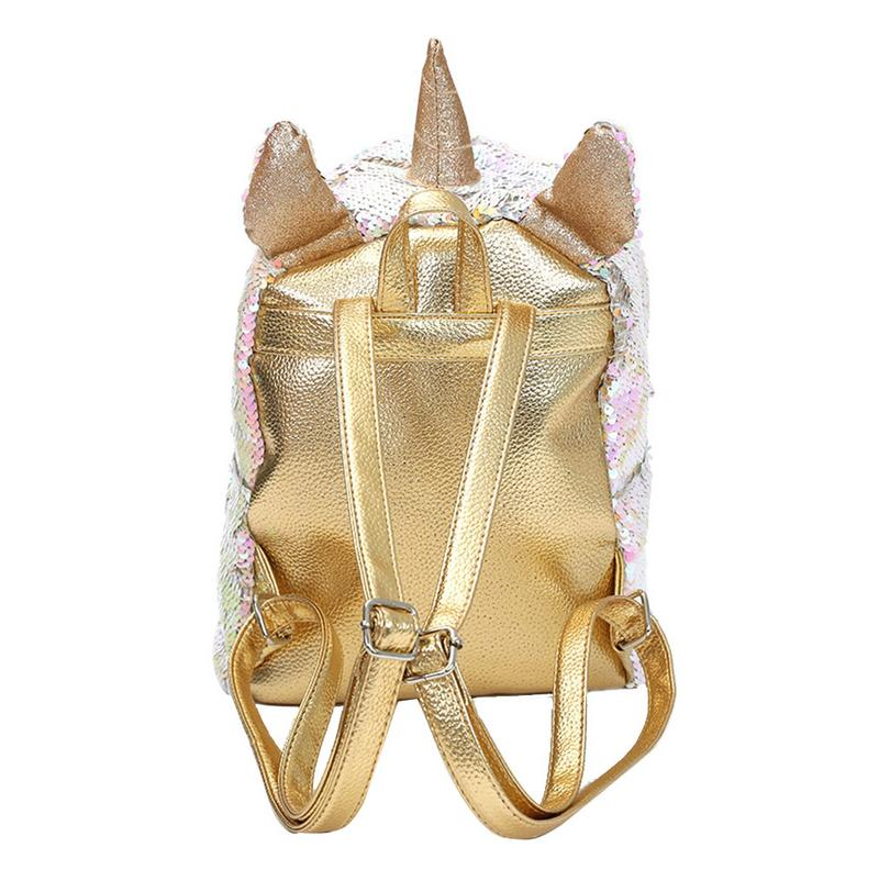 Women Girls Fashion 2 Way Sequins Glitter Backpack Sequins Backpack Cartoon Cute Bag Travel Backpack #4