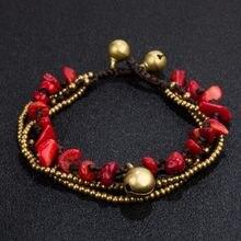 Amourjoux этнические Многослойные браслеты ручной работы с золотыми