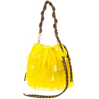 Women Hand Bag Niche Design Bucket Bag Tassels Ladies Yellow Sparkles Sequins Bag Shoulder Bag