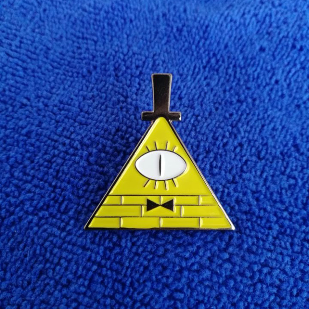 Эмалированная булавка/булавка для лацканов Bill Cipher