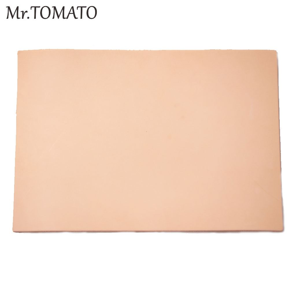 Vegetable Tanned Leather Primary Color Thick Genuine Leather 3.5 Mm To 4.0 Mm Cowhide Fist Layer Leather Leather Piece Pre-cut