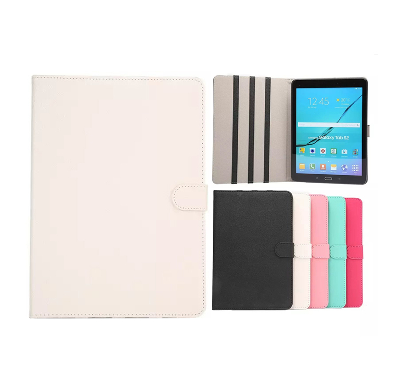 Auspicious Flowers Luxury Tablet Cases For Samsung Galaxy Tab S2 9.7 inch PU Leather Cover For Samsung T815 Cover Case