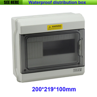 Free Shipping Top Quality PC Material IP67 Clear Cover Outdoor Distribution Box 9 Way Circuit Breaker