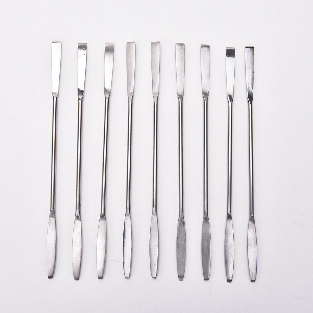 1x Quality Women Stainless Steel Nail Art Makeup Palette Spatula Tone Rods Tool Beauty T