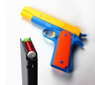 1PCS M1911 Classic Toys Mauser pistol Childrens toy guns Soft Bullet Gun plastic Revolver Kids Fun Outdoor game shooter safety