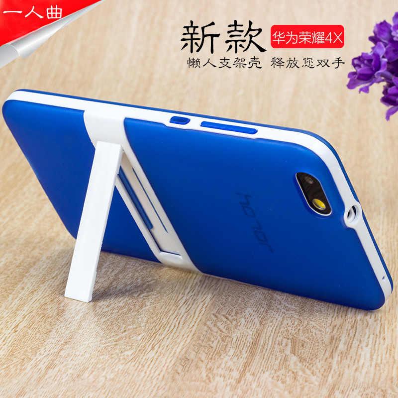 Mềm TPU + Cứng PC thời trang điện thoại bìa đối với Huawei Honor 4X trở lại trường hợp đối với Huawei Honor 4X5.5 ''với đứng quà tặng Bạn Gái