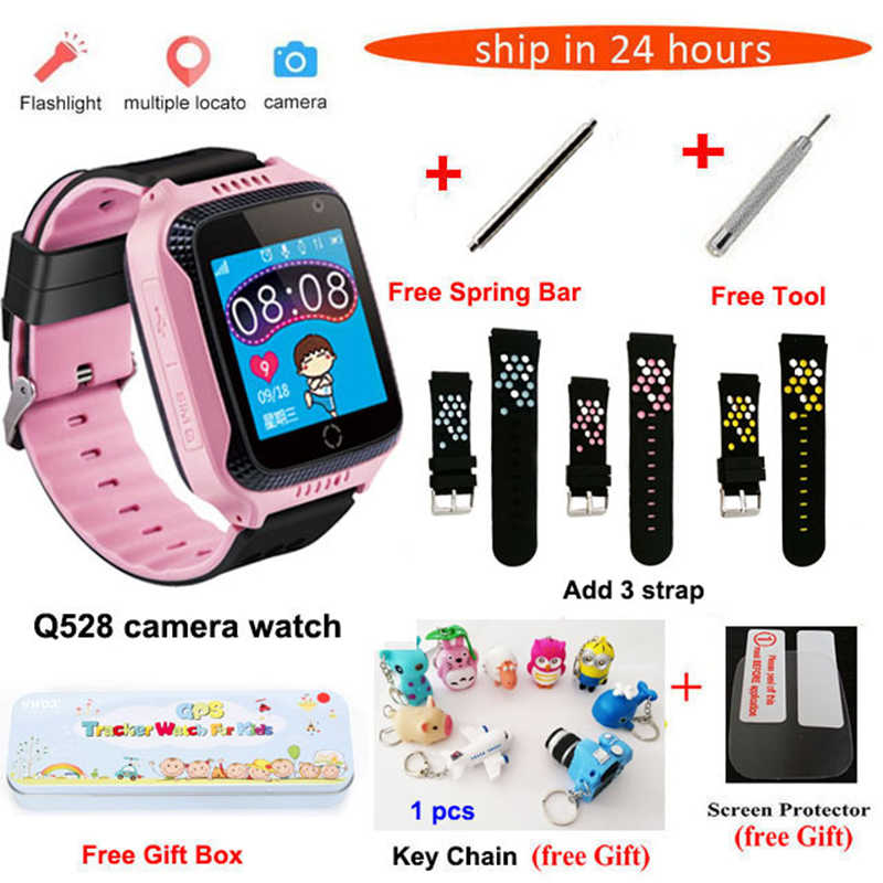Q528 Y21 smart baby watch with GPS tracker for kids camera touch phone Watch smart SOS children Watch for android PK Q100 Q90 A1