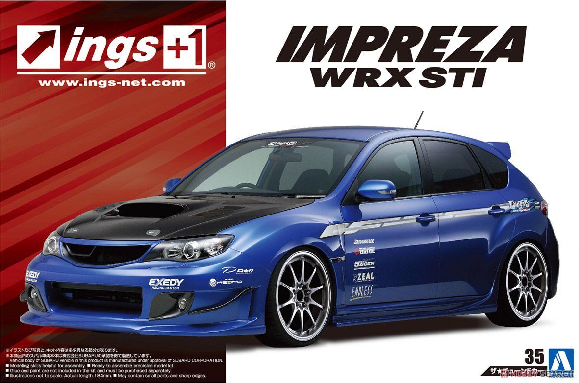 1/24 Assembled Car Model Of S Grb Impreza Wrx STI' 07 05423