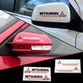 2 x espejo retrovisor del coche reflexivo etiqueta y etiqueta para mitsubishi lancer 9 10 pajero outlander asx i200