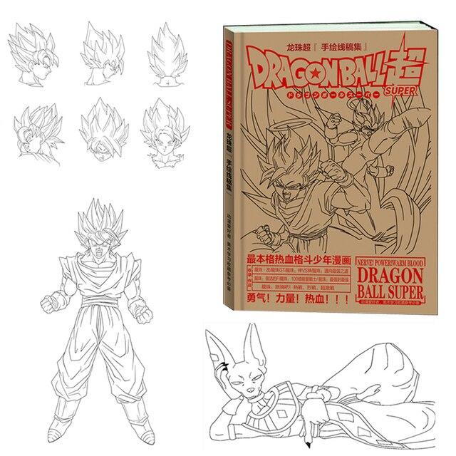 Freeza Dragon Ball Goku Super Ultra Instinto Jiren Android 17 Álbum brinquedo Figuras de Ação Toy UM esboço para uma criança