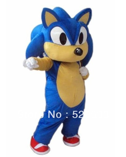 High Quality New Sonic the Hedgehog Mascot Costume Sonic Mascot Costume Cosplay