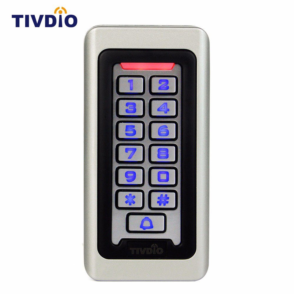 Keypad RFID Access Control System Proximity Card Standalone 2000 Users Door Access Control Waterproof Metal Case F9501D smart 13 56mhz mf ic card proximity card access control door opener rfid surface waterproof standalone access control system
