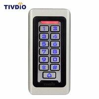 TIVDIO 키패드 RFID 액세스 제어 시스템 근접 카드 독립 2000 사용자가 도어 액세스 제어 방수 금속
