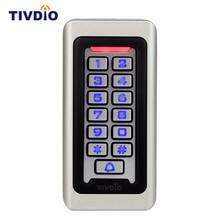 Tivdio клавиатуры RFID Доступа Управление системы бесконтактных карт автономный 2000 пользователей Дверь доступа Управление Водонепроницаемый металлический корпус F9501D