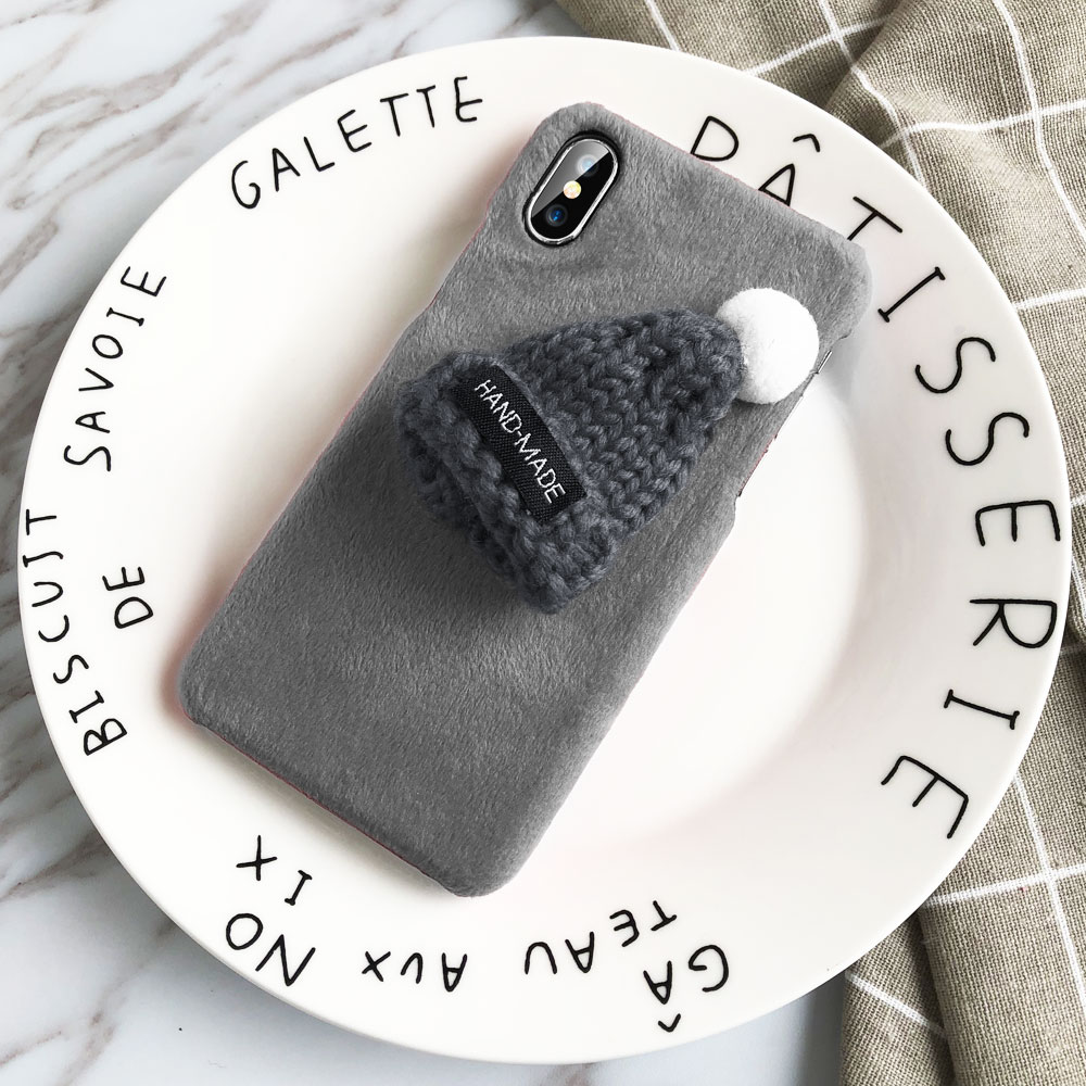 KISSCASE-Christmas-Hat-Phone-Case-For-iPhone-X-XS-Max-XR-5-5S-Se-Fur-Plush(7)